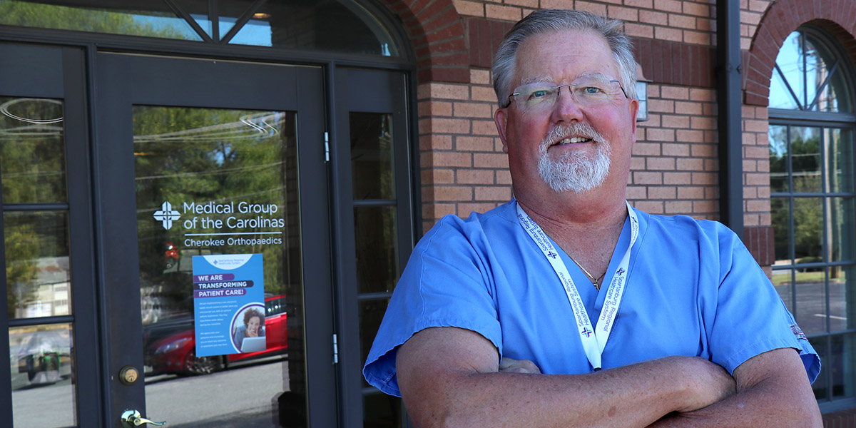 "Medical Group of the Carolinas – Cherokee Orthopaedics physician, Frank ""Spike"" Phillips, MD"