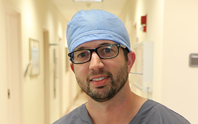Plastic surgeon, Manny Trujillo, MD recently performed a toe to thumb transplant on patient, Glenn Allum.